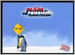 pingwin, Farce Of The Penguins, znak, drogowy