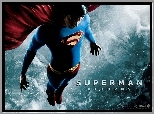 Superman Returns, Brandon Routh, leci, niebo