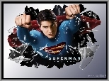 Superman Returns, Brandon Routh, szkło, pięści