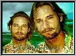 Serial, Lost, Zagubieni, Josh Holloway, zarost