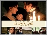 Becoming Jane, Anne Hathaway, James McAvoy, świeczki