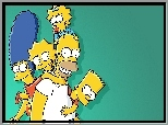 Simpsonowie, The Simpsons, Homer, Bart, Lisa, Merge, Maggie