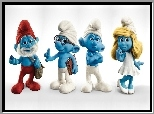 Smerfy, The Smurfs, Figurki