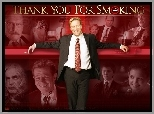 Thank You For Smoking, Aaron Eckhart, Maria Bello, Katie Holmes, Cameron Bright, Sam Elliott, William H. Macy, garnitur
