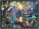 Thomas Kinkade, Disney, Księżniczka i Żaba, The Princess and the Frog