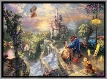 Obraz, Thomas Kinkade, Piękna i Bestia, Beauty and the Beast, Bajka