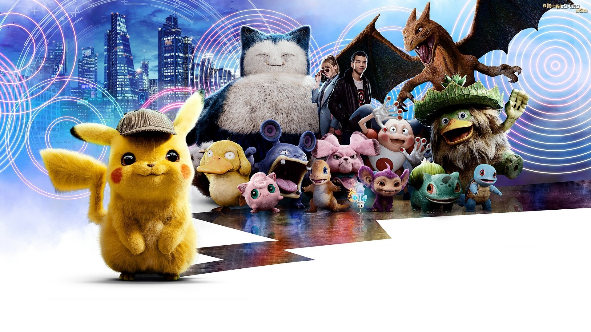Film, Pokemon Detektyw Pikachu, Kathryn Newton, Justice Smith